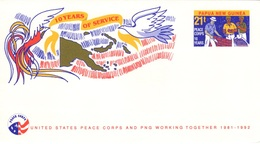 PAPOUASIE NOUVELLE-GUINEE PAPUA NEW GUINEA Stationary United States Peace Corps 1992 - Papua-Neuguinea