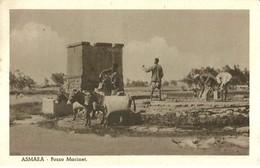 """2230 """" ASMARA - POZZO MACINET """" CARTOLINA POSTALE ANIMATA ORIGINALE NON SPED. - Eritrea"""