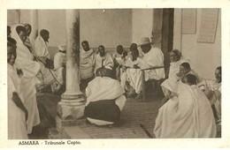 """2234 """" ASMARA - TRIBUNALE COPTO """" CARTOLINA POSTALE ANIMATA ORIGINALE NON SPED. - Eritrea"""