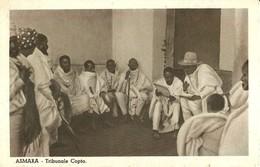 """2235 """" ASMARA - TRIBUNALE COPTO """" CARTOLINA POSTALE ANIMATA ORIGINALE NON SPED. - Eritrea"""