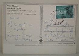 Italia Storia Postale 1989 Isolato Duomo Torino Sacra Sindone Lire 800 Su Cartolina - 6. 1946-.. Repubblica