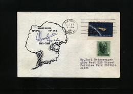 USA 1964 Hallett Station Antarctica Interesting Polar Cover - Research Stations