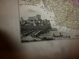1880 GERS (Condom,Auch,Lectoure,Lombez,etc) Carte Géographique & Descriptive :gravure Taille Douce-Migeon,géographe-édit - Geographische Kaarten