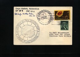 USA 1962 USARP Cape Hallet Antarctica Interesting Polar Cover - Forschungsstationen