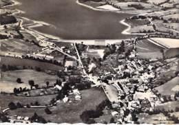 12 - VILLEFRANCHE DE PANOT Près LA BESSE : Vue Aérienne Et Le Barrage - CPSM Dentelée Noir Blanc Grand Format - Aveyron - France