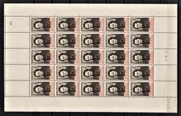 FRANCE 1942 - Y.T. N° 550 / FEUILLE DE 25 TP / NEUFS** - Feuilles Complètes