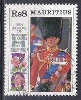 Mauritius 1991 Geschichte History Persönlichkeiten Königshäuser Royals Prinz Prince Philip, Mi. 720 Gest. - Mauritius (1968-...)