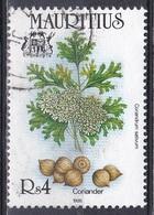 Mauritius 1995 Pflanzen Plants Flora Gewürze Spices Koriander Coriander, Mi. 791 Gest. - Mauritius (1968-...)