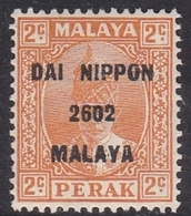 Malaya-Perak Japan Occupation N 17 1943 2c Brown Orange, Mint Never Hinged - Japanese Occupation