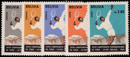 Bolivia 1968 Tennis Unmounted Mint. - Bolivia