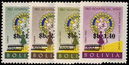Bolivia 1966 Childrens Hospital Provisionals Unmounted Mint. - Bolivia