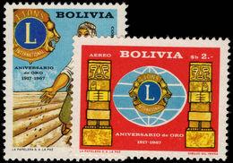 Bolivia 1967 Lions Club Unmounted Mint. - Bolivia