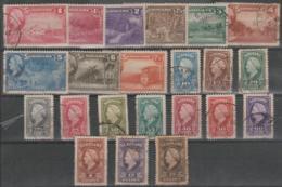 SURINAM - 1945 Queen Wilhelmina To 2.50g. Scott 184-205. Used - Surinam ... - 1975