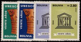 Bolivia 1968 UNESCO Lightly Mounted Mint. - Bolivia
