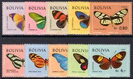 Bolivia 1970 Butterflies Unmounted Mint. - Bolivia