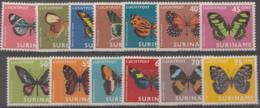 SURINAM - 1972 Butterflies. Scott C42-54. MNH ** - Surinam ... - 1975