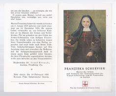 RELIC RELIQUIA RELIQUARY FRANZISKA SCHERVIER MUTTER DER ARMEN STIFTERIN DER ARMEN-SCHWESTERN VOM HL. FRANZISKUS AACHEN - Devotion Images