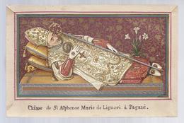 RELIQUIA RELIC RELIQUARY RELIKWIE GOLDPRINT CHASSE DE ST. ALPHONSE MARIE DE LIGUORI A PAGANI - Images Religieuses