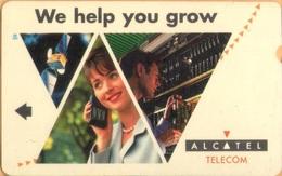 Uzbekistan - UZ-TST-ALC-0001, We Help You Grow (Alcatel - Telecom), Field Trial Test Card, Mint - Ouzbékistan