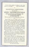 DOODSPRENTJE OORLOGSSLACHTOFFER VANDER STICHELLE ° GULLEGEM 1928 + 1940 STUDENT ST. AMANDSCOLLEGE KORTRIJK - Images Religieuses