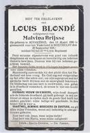 DOODSPRENTJE OORLOGSSLACHTOFFER BLONDE BRIJSSE SOLDAAT BIJ HET 23 Ste LINIE REGIMENT ° ADINKERKE 1890 + HOUTHULST 1918 - Images Religieuses
