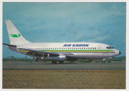 1260/ AIR GABON Boeing 737-200.- Official Company's Postcard.  Non écrite. Unused. Non Scritta. No Escrita. Ungelaufen. - 1946-....: Era Moderna