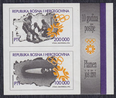 Bosnia Federation 1994 Winter Olympic Games Sarajevo, Block, MNH (**) Michel 9-10 Block 1 - Bosnie-Herzegovine