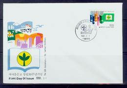 South Korea/1991 Saemaul Minilibrary 30-year Fdc / MNH.good Condition - Non Classés