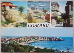 SOSOPOL Sozopol Bulgaria - Multiview - Beach  Vg DDR - Bulgaria