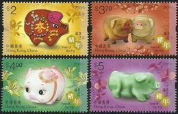 China Hong Kong 2019 Zodiac/Lunar New Year Of Pig Stamps 4v MNH - Ongebruikt