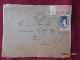 Lettre De 1928 Avec Bande Publicitaire Et Timbre Pour La Tuberculose - Postmark Collection (Covers)