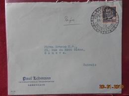 Lettre Du Danemark Pour La Suisse - Marcofilie - EMA (Printer)