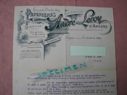 Angers Trés Belle Entéte De Lettre ANDRE LEROY 1912 Avec Enveloppe D'envoi Timbrée + Bon De Commande TBE - B. Blumenpflanzen Und Blumen