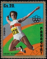 PARAGUAY - Scott #1608 Montréal '76 Olympic Games, Broad Jump / Used Stamp - Summer 1976: Montreal