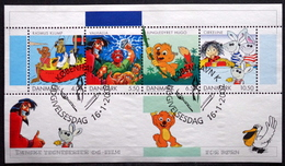 Denmark 2002 Danish Comics And Cartoons For Kids MiNr.1299-1302 Block  18 (O) ( Lot 4083 ) - Hojas Bloque