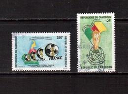Cameroon-1998,(Mi.1234-1235), Football, Soccer, Fussball,calcio, Used, R - Coupe Du Monde