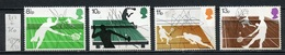 Grande Bretagne - Great Britain - Großbritannien 1977 Y&T N°817 à 820 - Michel N°727 à 730 Nsg - Sports De Raquette - Neufs