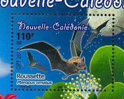 Nouvelle Calédonie / New Caledonia 2018 - Roussette / Fruit Bat / Flying Fox / Pteropus Ornatus - MNH - Chauve-souris