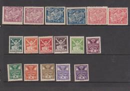 Czechoslovakia Scott 82-94 1920-25 Definitives  13 Values + Extra Perf, Mint Hinged - Czechoslovakia