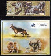 PARAGUAY, 2018, MNH,UPAEP, DOMESTIC ANIMALS, DOGS, 2v+S/SHEET - Hunde