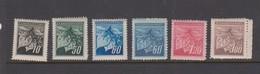 Czechoslovakia Scott 256A-261 1945  Linden Leaves And Buds, Mint Never Hinged - Czechoslovakia