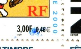 """Carnet  BC 3305 - Tintin - Fête Du Timbre 2000 - Variété """"Tache Bleue Sur Timbre Du Haut"""" - Neuf - Non Plié - Très Beau - Journée Du Timbre"""