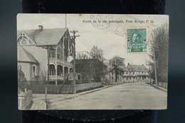 Canada Quebec Pont Rouge Partie De La Rue Principale 1917 - Trois-Rivières