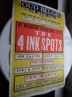 The 4 INK SPOTS ( OUD BELGIË Uw Music-Hall > Antwerpen ) Anno 1959 ( 62 X 43 Cm.) ! - Affiches