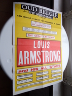 LOUIS ARMSTRONG And His All Stars - The Great SATCHMO ( OUD BELGIË Uw Music-Hall > Antwerp ) Anno 195? ( 62 X 43 Cm.) ! - Plakate
