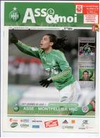 FOOTBALL PROGRAMME 2010 ASSE ST ETIENNE MONTPELLIER HSC ETAT NEUF - Otros