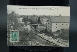 Canada Quebec Le Vieux Moulin Et La Rivière Jacques Cartier Pont Rouge P.Q - Trois-Rivières