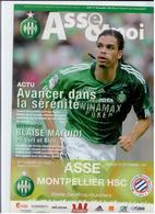 FOOTBALL PROGRAMME 2010/11 ASSE ST ETIENNE MONTPELLIER HSC ETAT NEUF - Otros