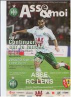 FOOTBALL PROGRAMME 2010/11 ASSE ST ETIENNE RC LENS ETAT NEUF - Otros