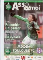 FOOTBALL PROGRAMME 2011 ASSE ST ETIENNE TOULOUSE FC ETAT NEUF - Otros
